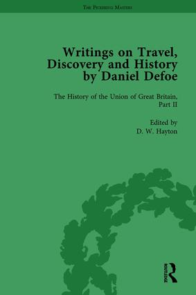 Writings on Travel, Discovery and History by Daniel Defoe, Part II vol 8: 1st Edition (Hardback) book cover
