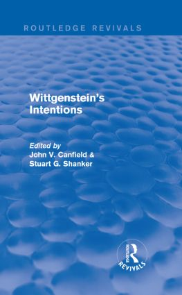 Wittgenstein's Intentions (Routledge Revivals) (Hardback) book cover