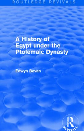 A History of Egypt under the Ptolemaic Dynasty (Routledge Revivals) book cover
