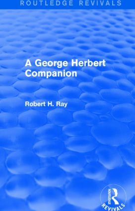 A George Herbert Companion (Routledge Revivals) book cover