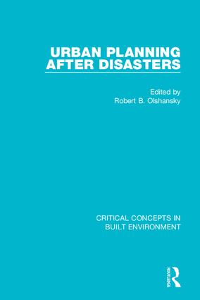 Urban Planning After Disasters book cover