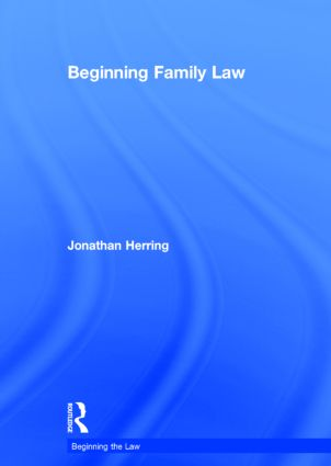 Beginning Family Law (Hardback) book cover