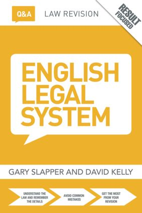 Q&A English Legal System: 11th Edition (Paperback) book cover