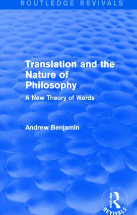 The Mediated Touch; Davidson and Translation