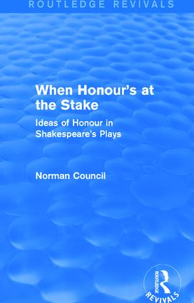 When Honour's at the Stake (Routledge Revivals): 1st Edition (Paperback) book cover