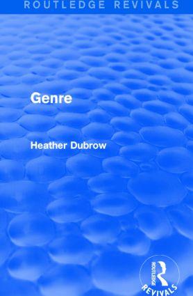 Genre (Routledge Revivals): 1st Edition (Hardback) book cover