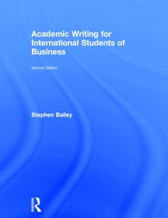 Academic Writing for International Students of Business book cover
