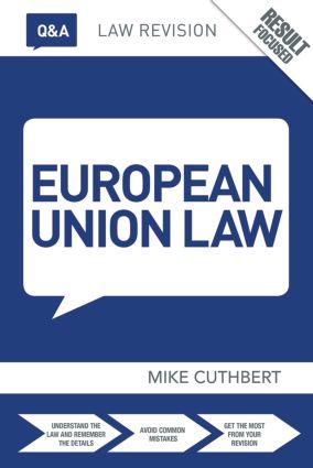 Q&A European Union Law book cover