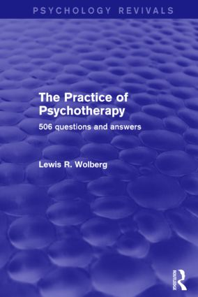 The Practice of Psychotherapy (Psychology Revivals)