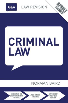 Q&A Criminal Law book cover