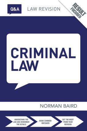 Q&A Criminal Law: 10th Edition (e-Book) book cover