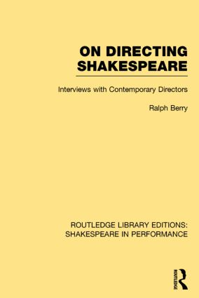 Routledge Library Editions: Shakespeare in Performance book cover