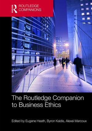 The Routledge Companion to Business Ethics (Hardback) book cover