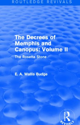 The Decrees of Memphis and Canopus: Vol. II (Routledge Revivals)