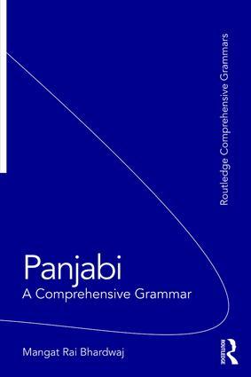 Panjabi: A Comprehensive Grammar, 1st Edition (Paperback) book cover