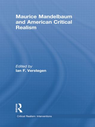 Maurice Mandelbaum and American Critical Realism (e-Book) book cover