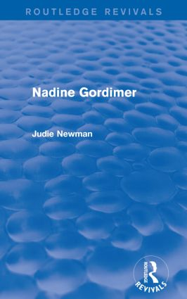 Nadine Gordimer (Routledge Revivals): 1st Edition (Paperback) book cover