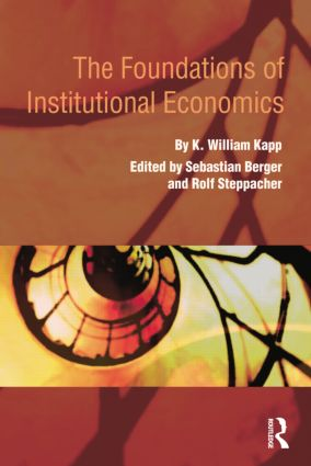 The Foundations of Institutional Economics: 1st Edition (Paperback) book cover