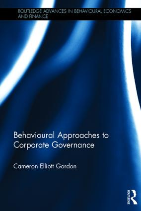 Behavioural Approaches to Corporate Governance book cover
