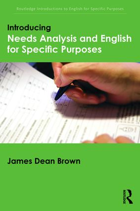 Introducing Needs Analysis and English for Specific Purposes book cover