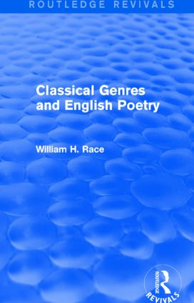 Classical Genres and English Poetry (Routledge Revivals): 1st Edition (Paperback) book cover