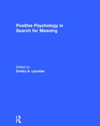 Positive Psychology in Search for Meaning: 1st Edition (Hardback) book cover