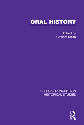Oral History: 1st Edition (Hardback) book cover