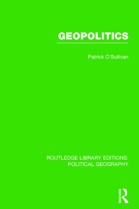 Geopolitics (Routledge Library Editions: Political Geography) book cover