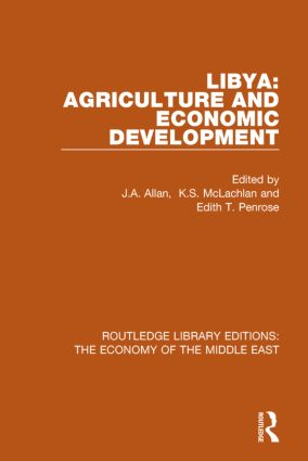 Libya: Agriculture and Economic Development (RLE Economy of Middle East) book cover