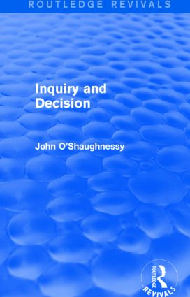 Inquiry and Decision (Routledge Revivals) book cover
