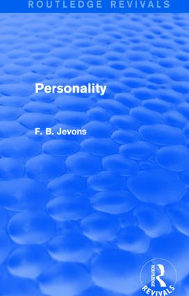 Personality (Routledge Revivals): 1st Edition (Paperback) book cover