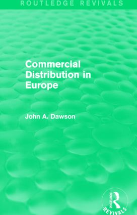 Commercial Distribution in Europe (Routledge Revivals): 1st Edition (Paperback) book cover