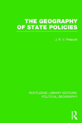 The Geography of State Policies (Routledge Library Editions: Political Geography) book cover