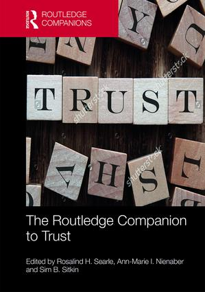 The Routledge Companion to Trust (Hardback) book cover