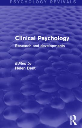 Clinical Psychology: Research and Developments book cover