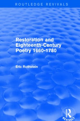 Restoration and Eighteenth-Century Poetry 1660-1780 (Routledge Revivals): 1st Edition (Paperback) book cover