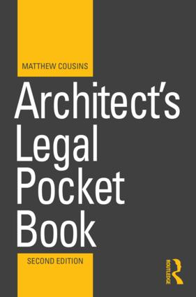 Architect's Legal Pocket Book: 2nd Edition (Paperback) book cover