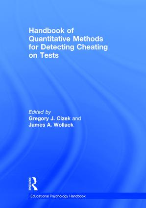 Handbook of Quantitative Methods for Detecting Cheating on Tests book cover