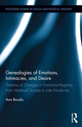 Genealogies of Emotions, Intimacies, and Desire: Theories of Changes in Emotional Regimes from Medieval Society to Late Modernity (Hardback) book cover