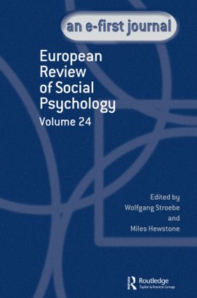 European Review of Social Psychology: Volume 24: 1st Edition (Hardback) book cover