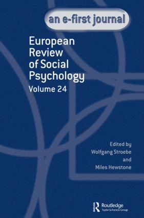 European Review of Social Psychology: Volume 24