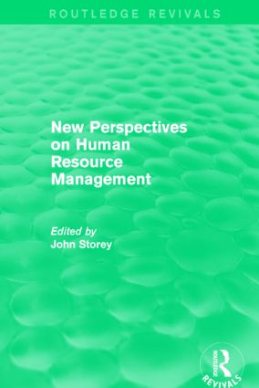 New Perspectives on Human Resource Management (Routledge Revivals): 1st Edition (Paperback) book cover