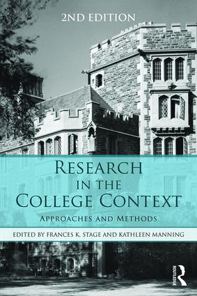Research in the College Context: Approaches and Methods, 2nd Edition (Paperback) book cover