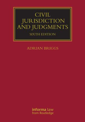 Civil Jurisdiction and Judgments book cover