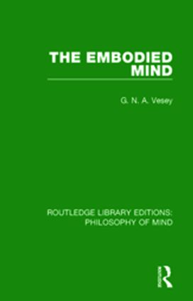 The Embodied Mind: 1st Edition (Hardback) book cover