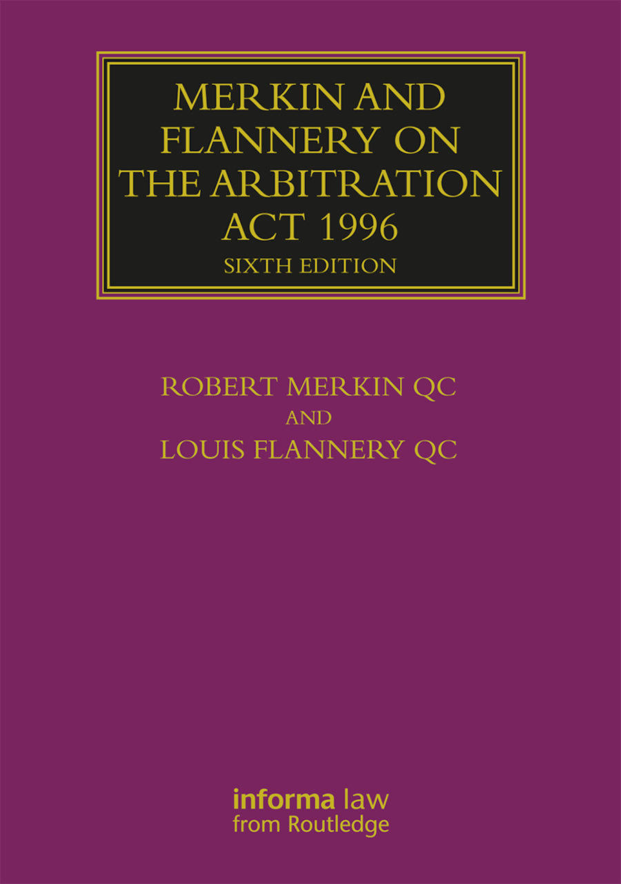 Merkin and Flannery on the Arbitration Act 1996 book cover
