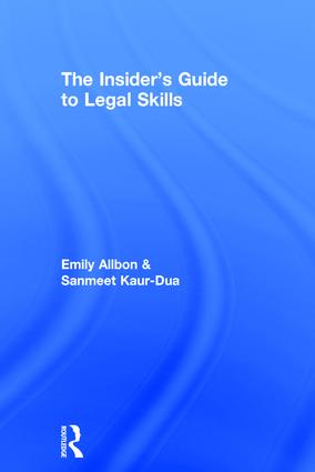 The Insider's Guide to Legal Skills book cover