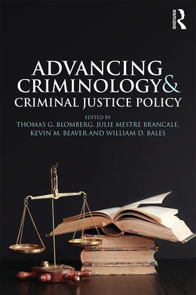 Advancing Criminology and Criminal Justice Policy (Paperback) book cover