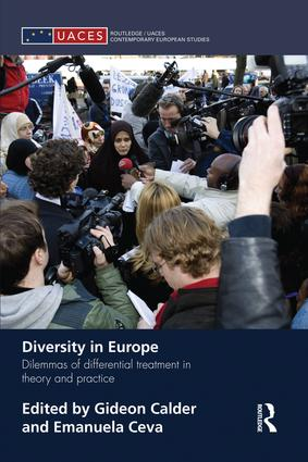 Diversity in Europe: Dilemnas of differential treatment in theory and practice, 1st Edition (Paperback) book cover