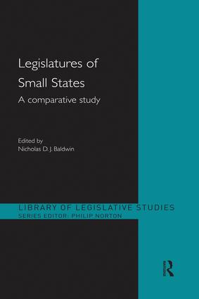 Legislatures of Small States: A Comparative Study, 1st Edition (Paperback) book cover